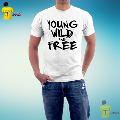 Tshirt homme Young Wild and Free