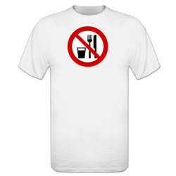 Tshirt homme Ramadan No eating and smoking