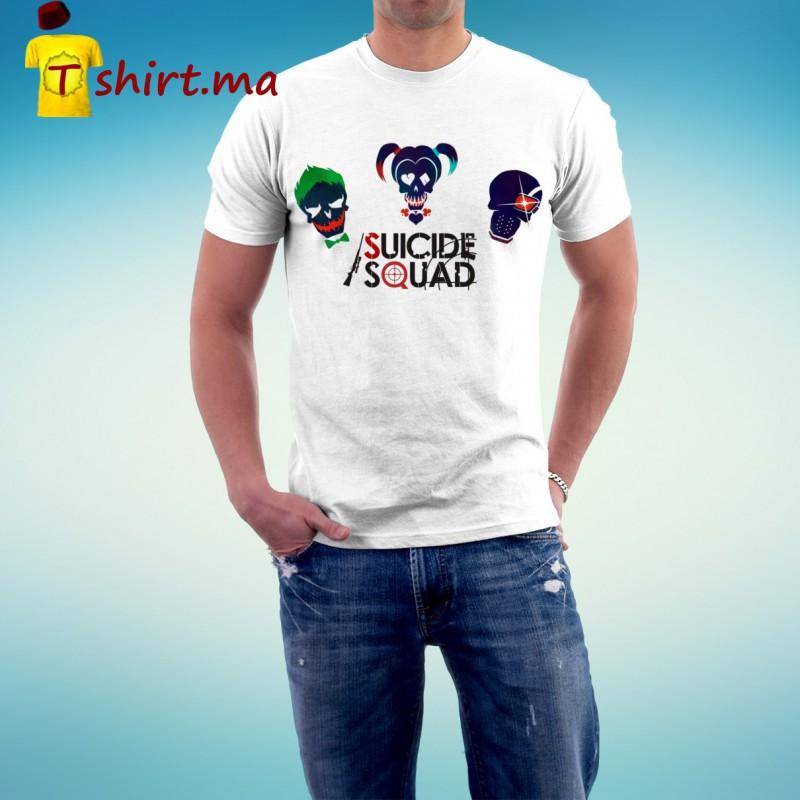Tshirt homme Suicide squad trio