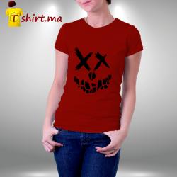 Tshirt femme Smiley Skull