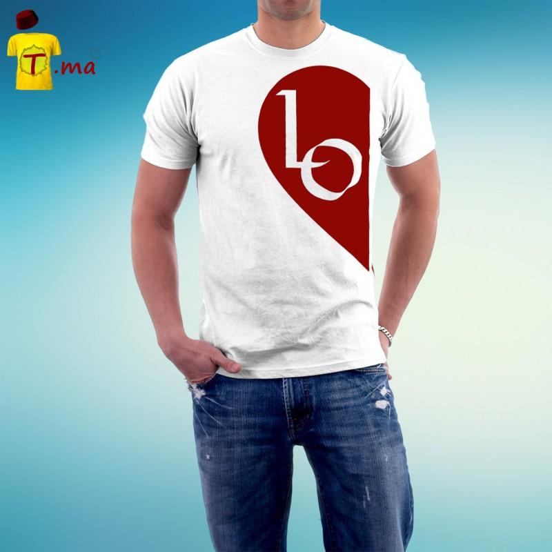 Tshirt homme Love heart