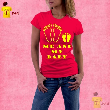 Tshirt femme Me and my baby