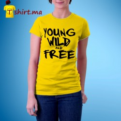 Tshirt femme Young Wild and Free