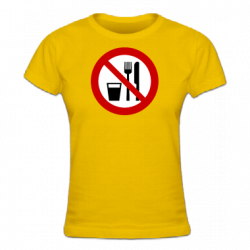 Tshirt femme Ramadan no eating and smoking