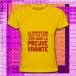 Tshirt de la perfection pour femmes