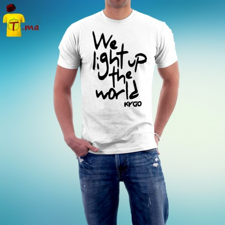 Tshirt homme We light up the world Kygo