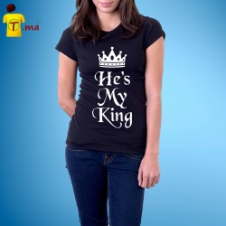 Tshirt femme He is my king