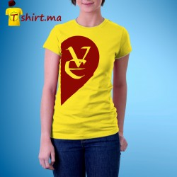 Tshirt femme Love heart