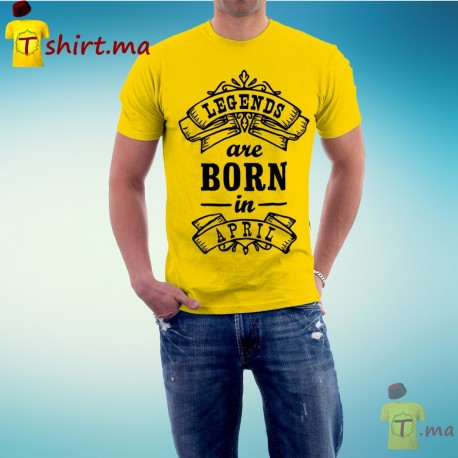 Tshirt homme Legends are born in